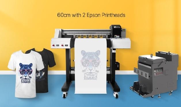 熱転写petフィルム印刷 バードランドDTFプリンター 仕上げ機セット DTF-600 2ヘッドパワフル白インク 起業・副業_画像1