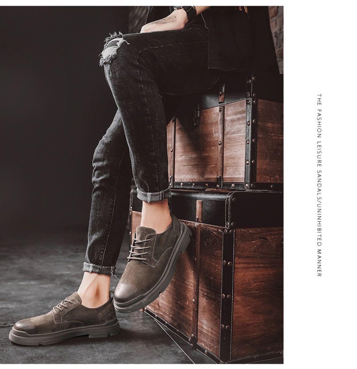 ビジネスシューズ カジュアル メンズスニーカー 本革 カジュアルシューズ 男性用  靴メンズ 紳士シューズ スニーカー 軽量