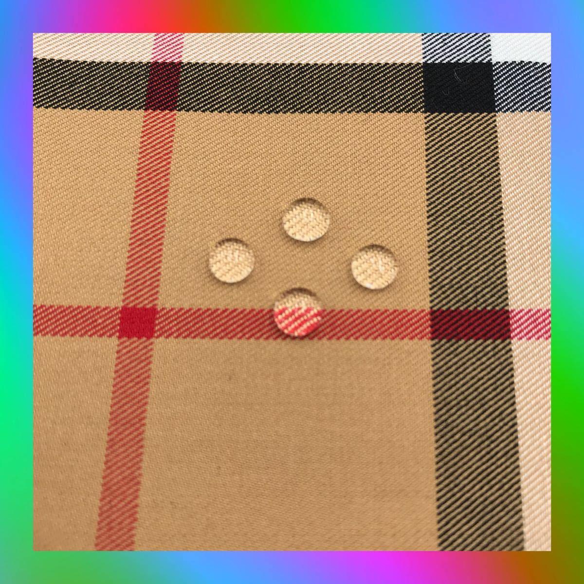 AAA 褐色 大格子 撥水加工 半分サイズ タータンチェック 格子柄 パッチワーク ハンドメイド  生地 チェック はぎれ 綿