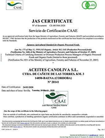 500ml x 1 2年連続 金賞受賞. CANOLIVA スペイン産オーガニックエクストラバージンオリーブオイル 500ml._画像5