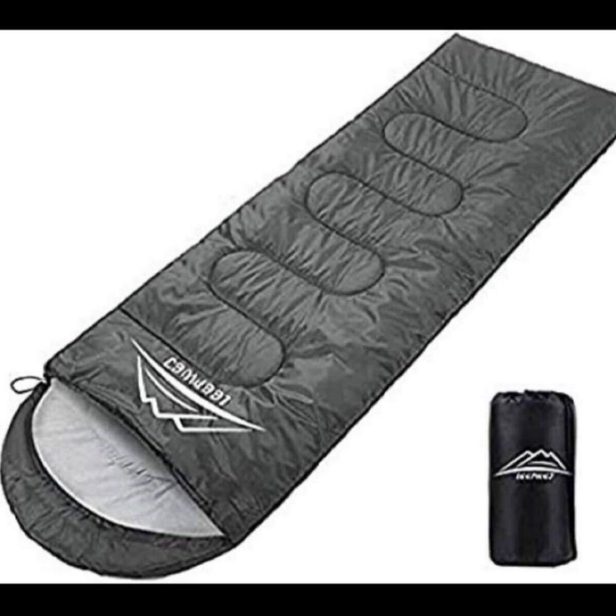 最新版]寝袋 封筒型 軽量 保温 210T防水シュラフ コンパクト