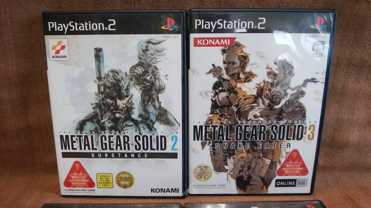 PS2 プレステ2 デビルメイクライ2 マックスペイン メタルギアソリッド2 メタルギアソリッド3 まとめてまとめ売り 動作未確認ジャンク現状品_画像2