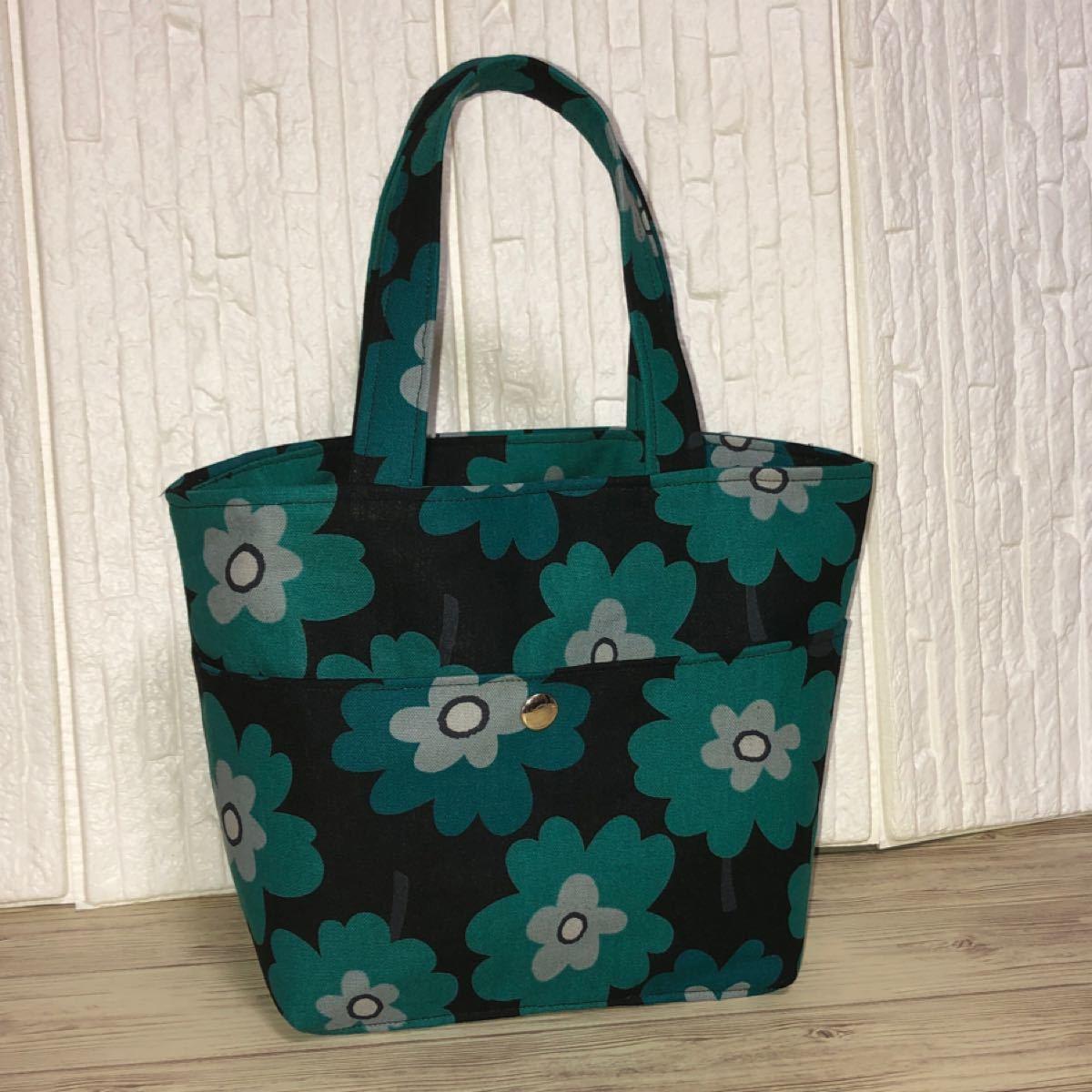 ミニトートバッグ 花柄 ハンドメイド  可愛いバッグ