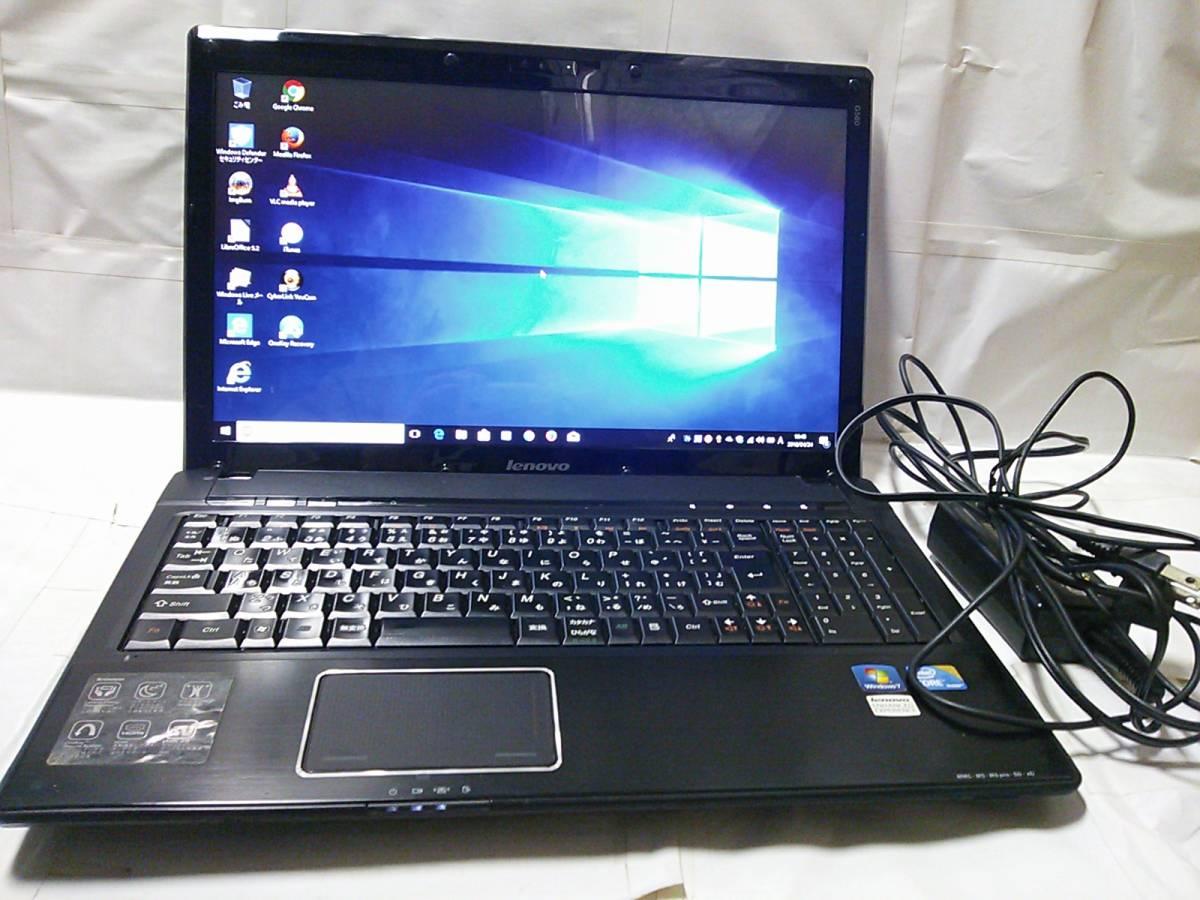 整備済PC Windows10 Home 64bit Lenovo G560 Core i5 430M 2.26~2.53GHz 4GB 320GB DVDハイパーマルチ Webカメラ 無線 Office 即使用_画像1