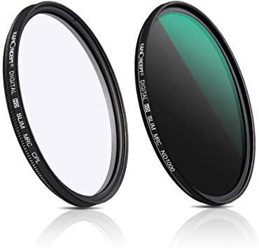 72mm CPLフィルター K&F 2枚セット ND1000フィルター 72mm 光学ガラス製 Concep