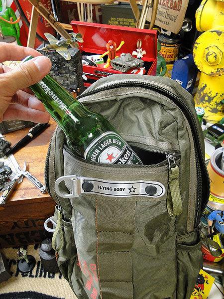 【146316】パラシュートバッグがモチーフ!ミリタリー系の老舗メーカーの逸品☆フライングボディバッグ ワンショルダー(アーミーグリーン)_画像10