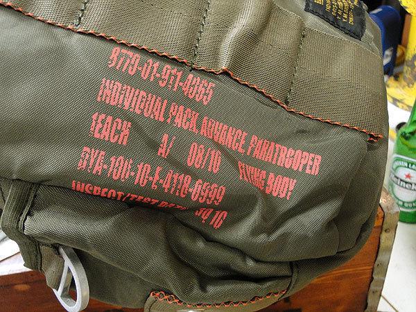 【146316】パラシュートバッグがモチーフ!ミリタリー系の老舗メーカーの逸品☆フライングボディバッグ ワンショルダー(アーミーグリーン)_画像7