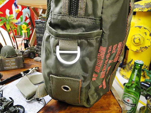 【146316】パラシュートバッグがモチーフ!ミリタリー系の老舗メーカーの逸品☆フライングボディバッグ ワンショルダー(アーミーグリーン)_画像6