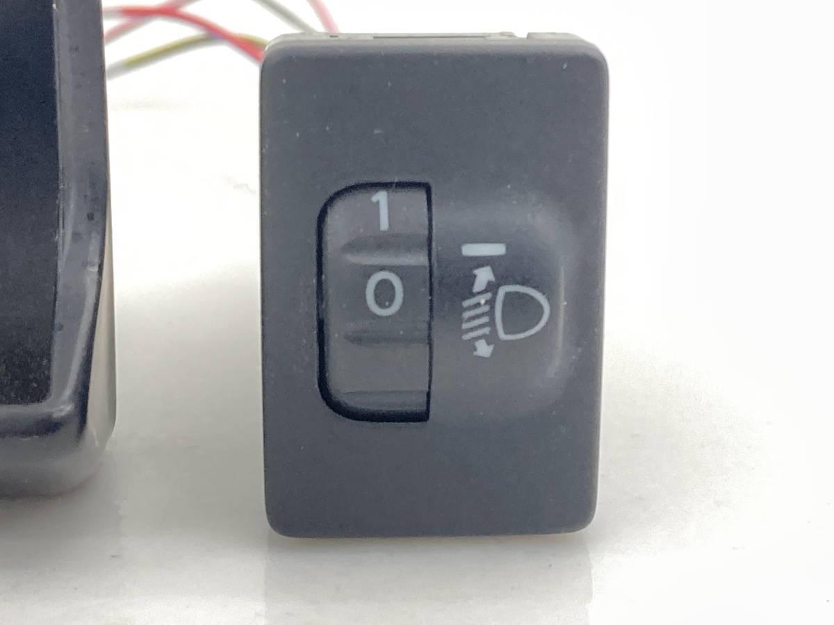 _b58875 ダイハツ ミラココア プラスG DBA-L675S レベライザー スイッチ 光軸 トリム 内装 カバー FL10 L685S_画像2