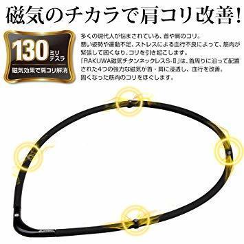 1品限定!ブラックXブラック 45cm ファイテン(phiten) ネックレス RAKUWA 磁気チタンネックGPFC684_画像2