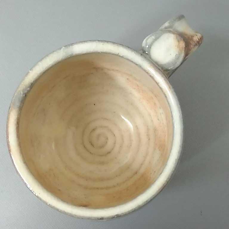風66)萩焼 渋谷泥詩 見島コーヒーカップ マグカップ 珈琲器 茶器 未使用新品 同梱歓迎_画像4