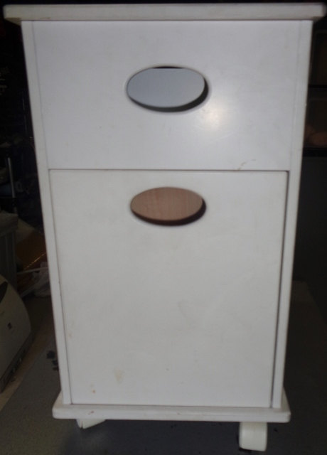 キャビネットワゴン 鏡台 ゴミ箱 ティッシュボックス 引き出し 収納 マルチツール マルチキャビネット マルチ収納_画像3