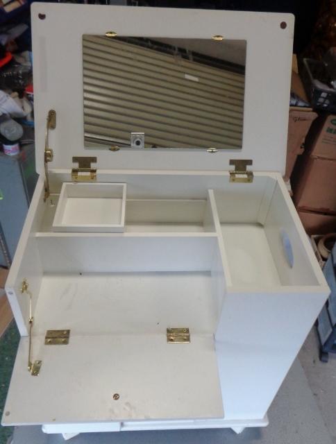 キャビネットワゴン 鏡台 ゴミ箱 ティッシュボックス 引き出し 収納 マルチツール マルチキャビネット マルチ収納_画像8