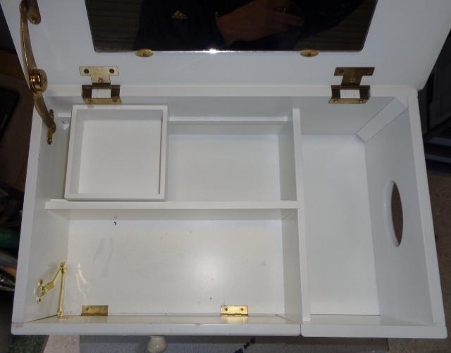 キャビネットワゴン 鏡台 ゴミ箱 ティッシュボックス 引き出し 収納 マルチツール マルチキャビネット マルチ収納_画像10