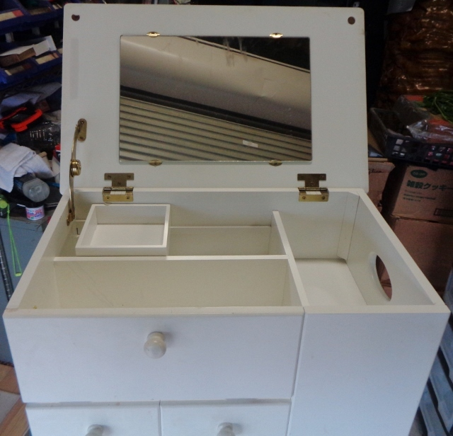 キャビネットワゴン 鏡台 ゴミ箱 ティッシュボックス 引き出し 収納 マルチツール マルチキャビネット マルチ収納_画像9