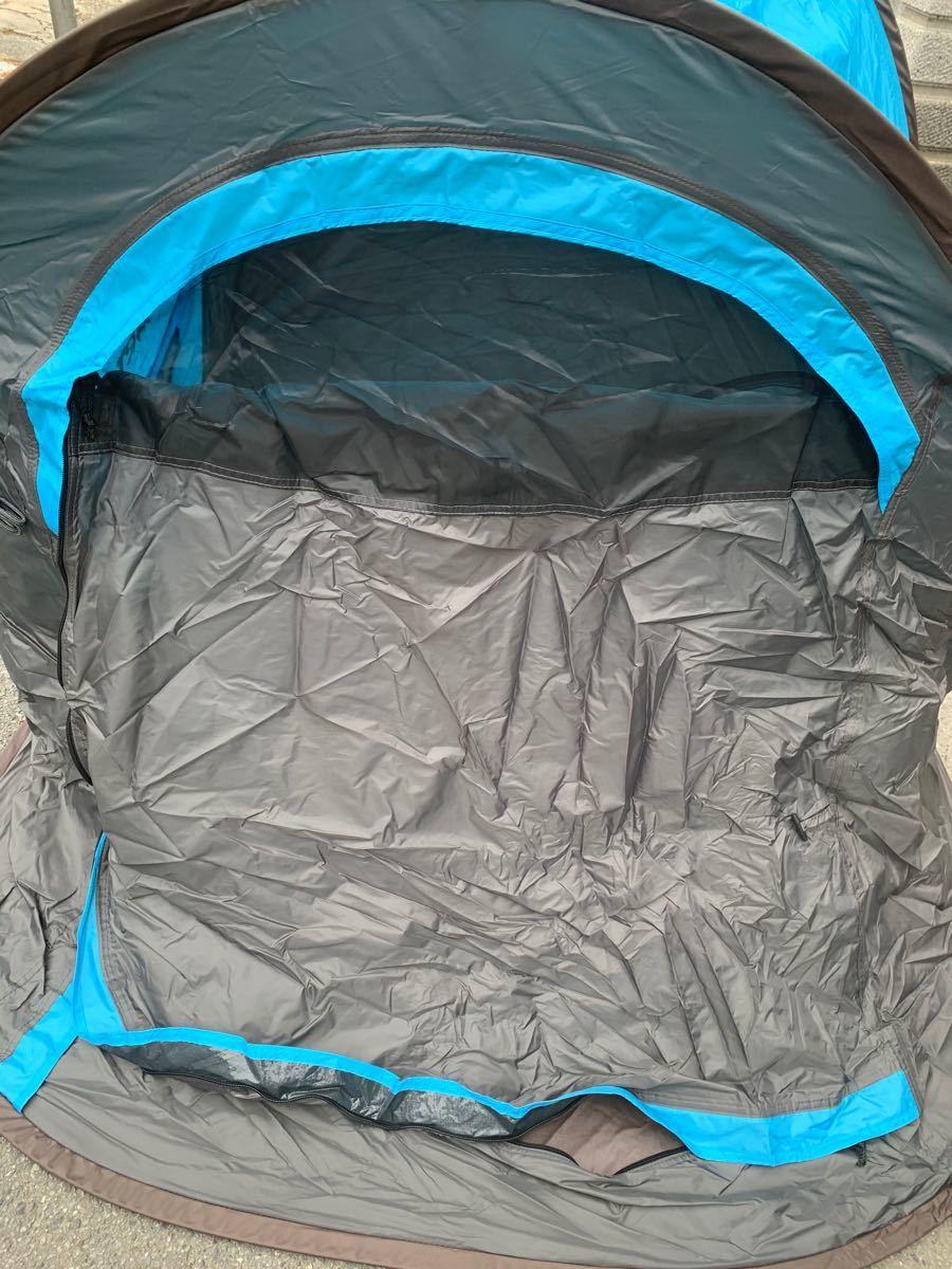 テント 2人用 アウトドア ソロ キャンプテント ワンタッチ 防風防水 ポップアップテント 設営簡単 折りたたみ 超軽量