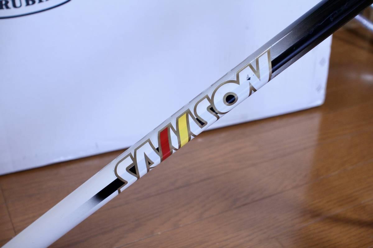 COLUMBUS MAX フォーク コロンバス SAMSON サムソン 競輪フレーム 金縁ロゴ 520mm 下地メッキ ピスト_画像4