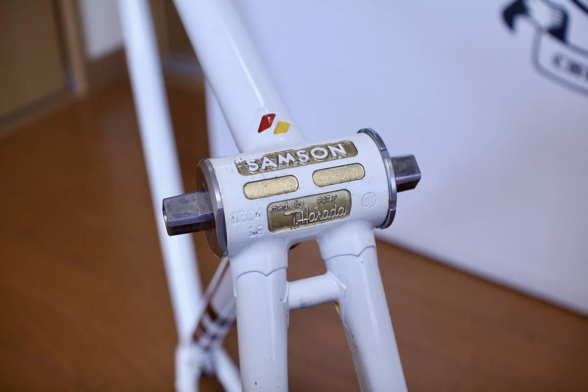 COLUMBUS MAX フォーク コロンバス SAMSON サムソン 競輪フレーム 金縁ロゴ 520mm 下地メッキ ピスト_画像9