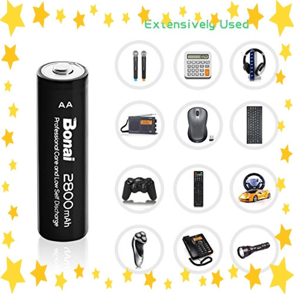 ●今だけ●8個パック/単3/充電池/BONAI/単3形/充電池/充電式ニッケル水素電池/8個パック(超大容量2800mAh/約1_画像6