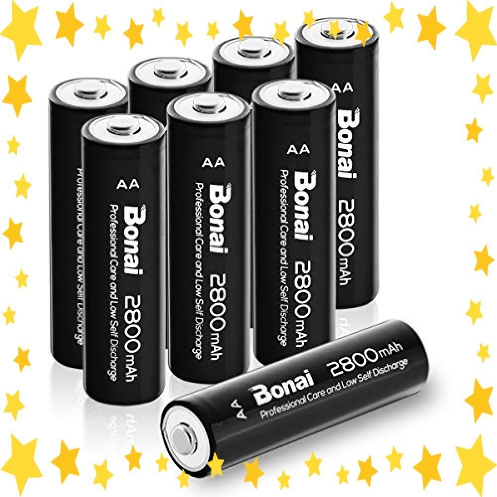 ●今だけ●8個パック/単3/充電池/BONAI/単3形/充電池/充電式ニッケル水素電池/8個パック(超大容量2800mAh/約1_画像2