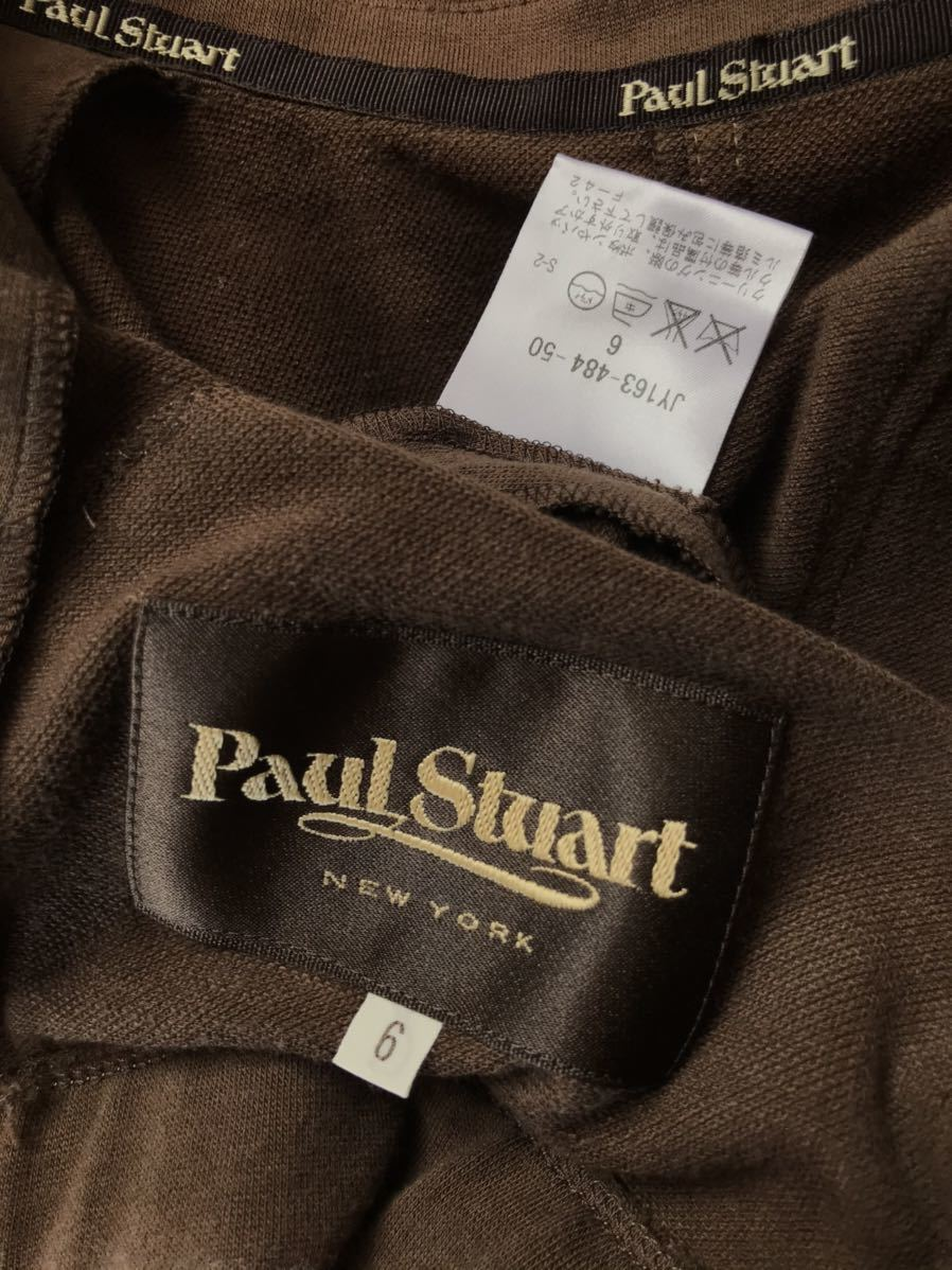 Paul Stuart(ポールスチュアート)スウェットテーラードジャケット ブラウン コットン 6 レディース_画像6