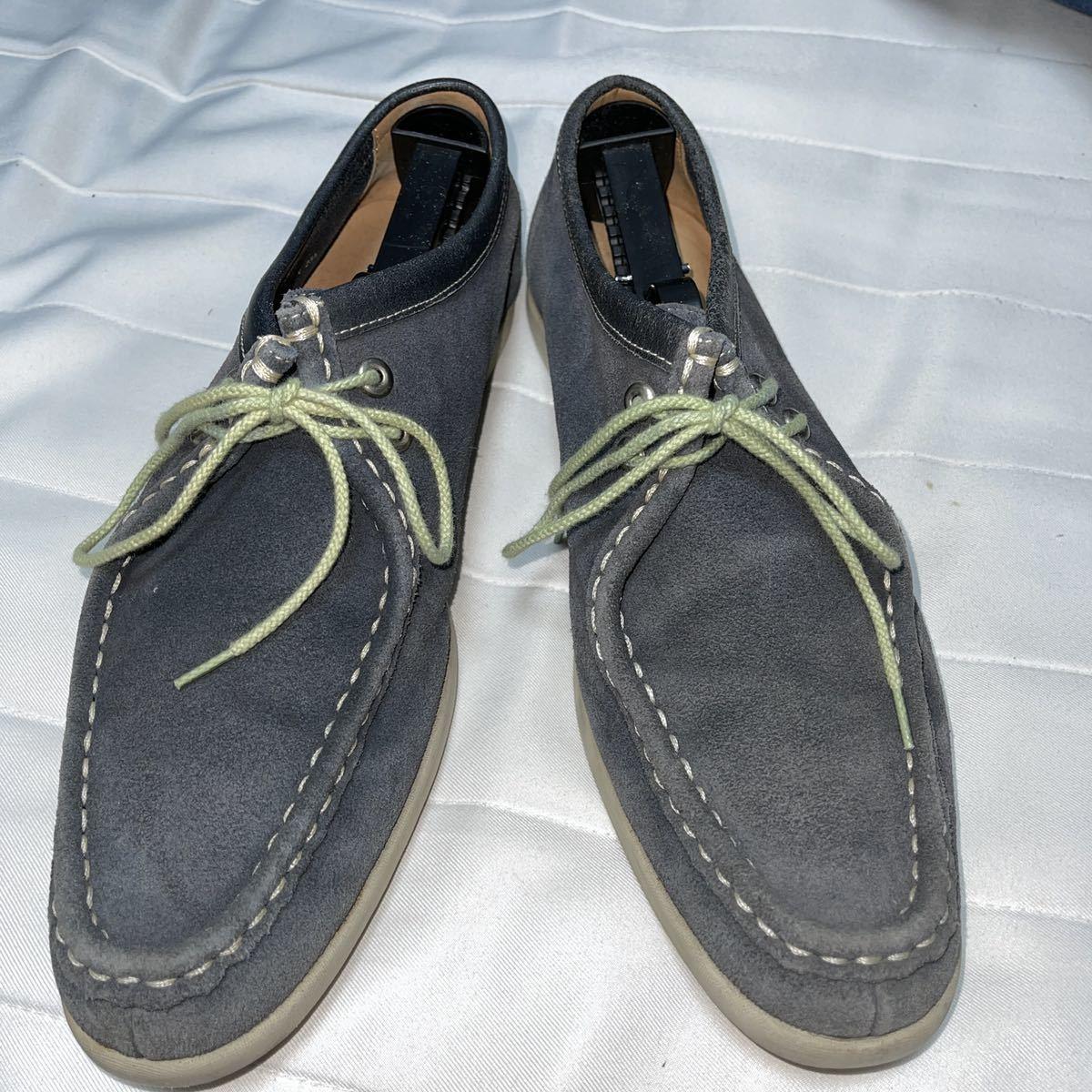 【即決/送料無料】REGAL リーガル 25.5cm デッキシューズ スエード 革靴 青 ブルー_画像8