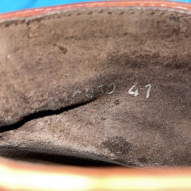 【即決/送料無料】POLSA UOMO ポルサウオモ EUR41 25cm スエード ショートブーツ チャッカブーツ ボルドー_画像7