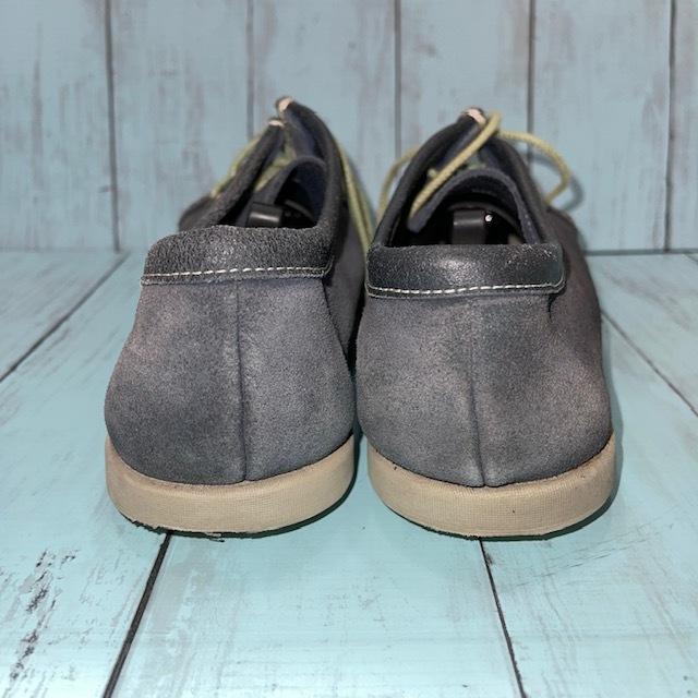 【即決/送料無料】REGAL リーガル 25.5cm デッキシューズ スエード 革靴 青 ブルー_画像4