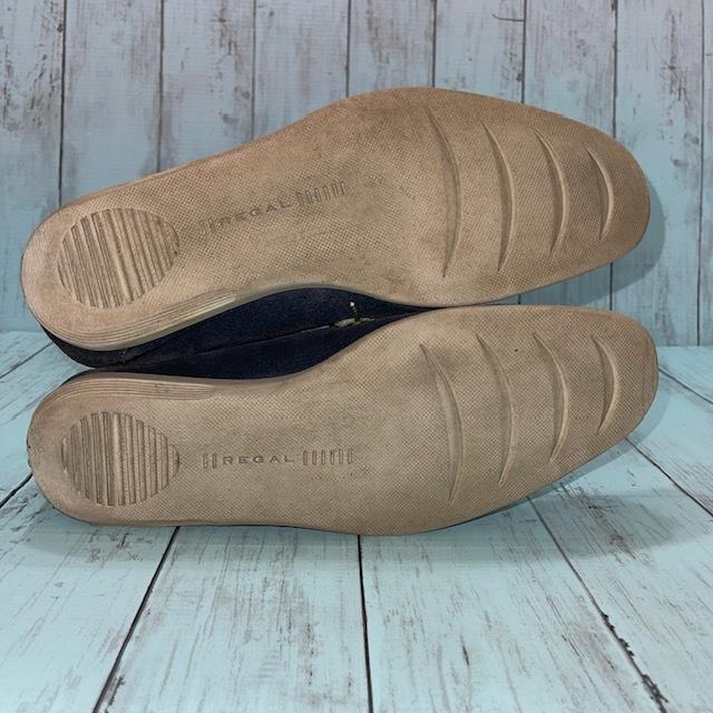 【即決/送料無料】REGAL リーガル 25.5cm デッキシューズ スエード 革靴 青 ブルー_画像5