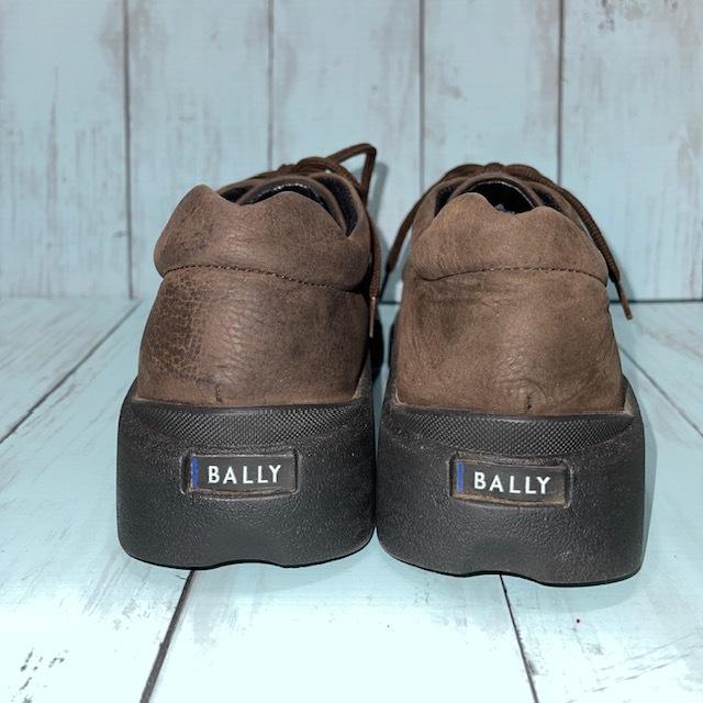 【即決/送料無料】BALLY バリー US6.5 24.5cm スニーカー 茶 ブラウン ポルトガル製_画像4