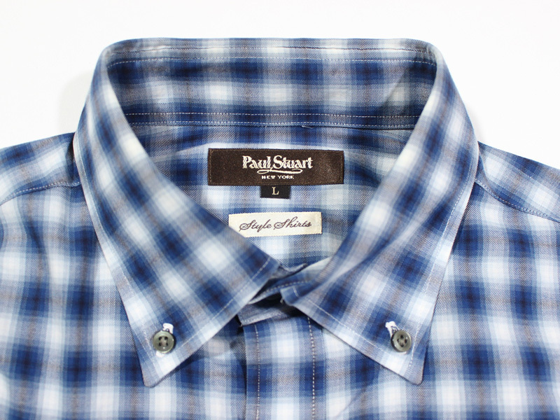 Paul Stuart ポールスチュアート 長袖チェックBDシャツ L_画像3