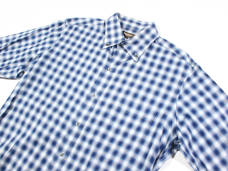 Paul Stuart ポールスチュアート 長袖チェックBDシャツ L_画像1