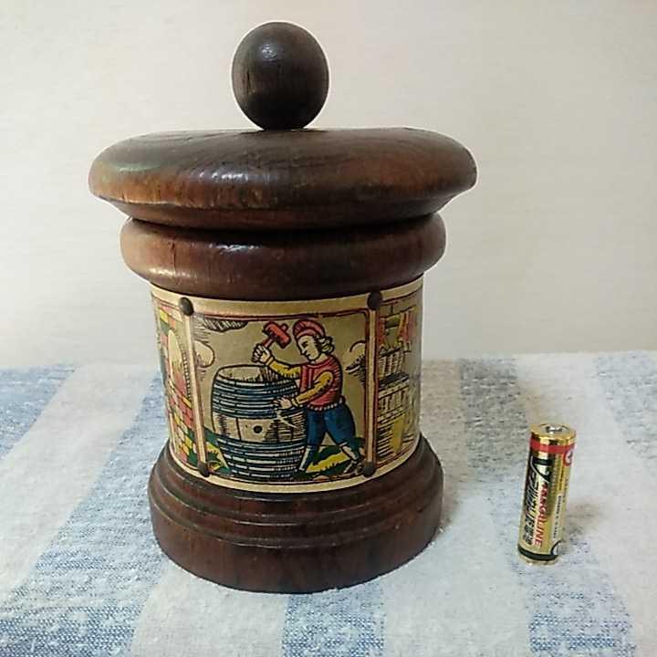 木製 木 小物入れ インテリア 民芸品 未チェック 詳細不明 ジャンク扱い_単三電池をサイズの参考にして下さい。