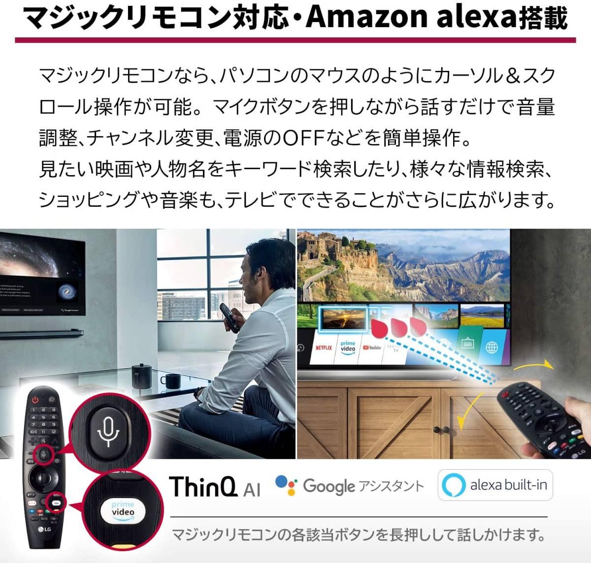 【1円スタート!!】新品 2019年製 有機ELテレビ LG 65V型 OLED65E9PJA 4K対応 BS・CS 4Kチューナー内蔵 YouTube【M04C05】_画像9