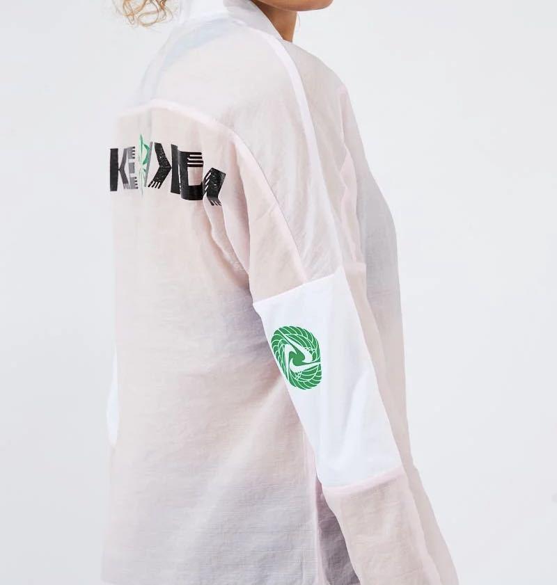 【M】定価11000円 新品 NIKE ナイキ ランニングジャケット ナイロンジャケット シースルー アイコンクラッシュ 薄手 ピンク