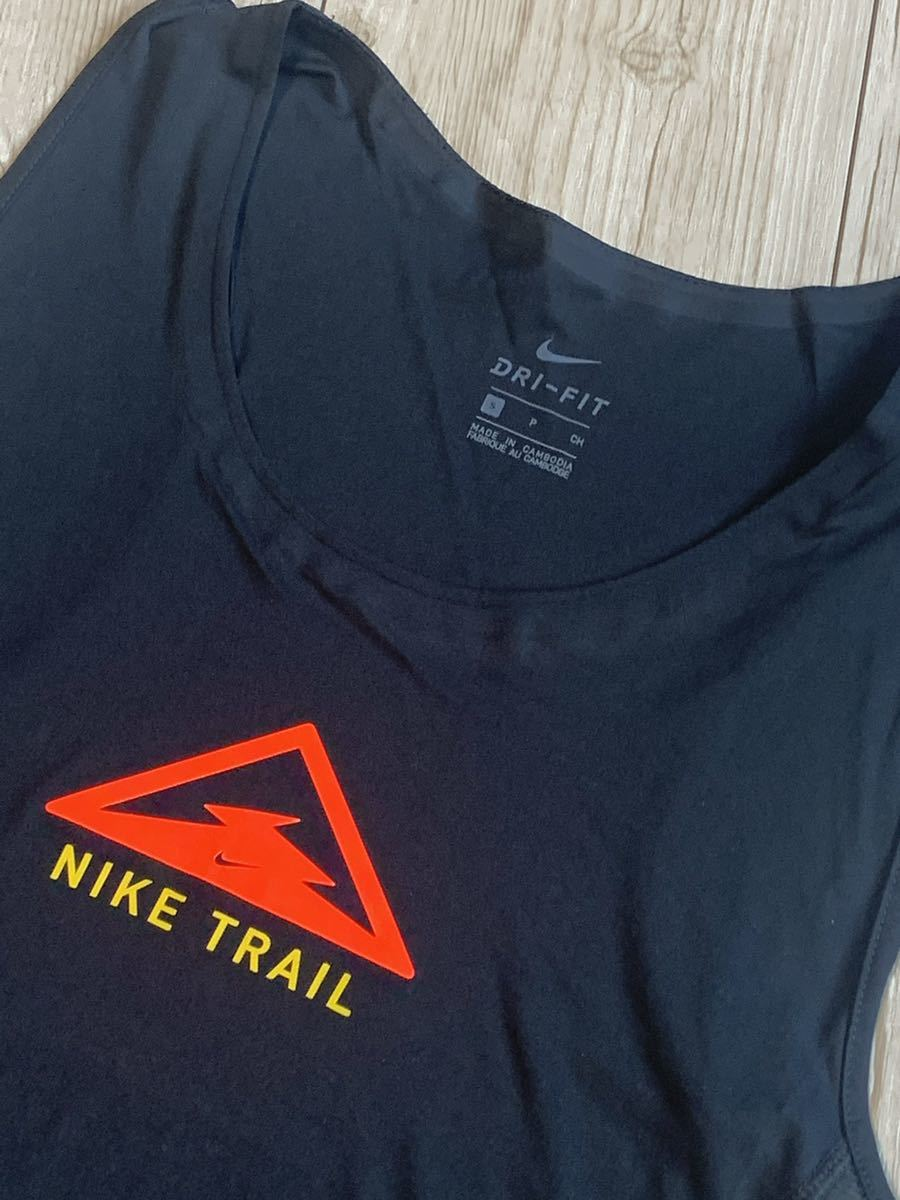 新品 NIKE ナイキ タンクトップ ランニング シティー スリーク トレイル Sサイズ ブラック