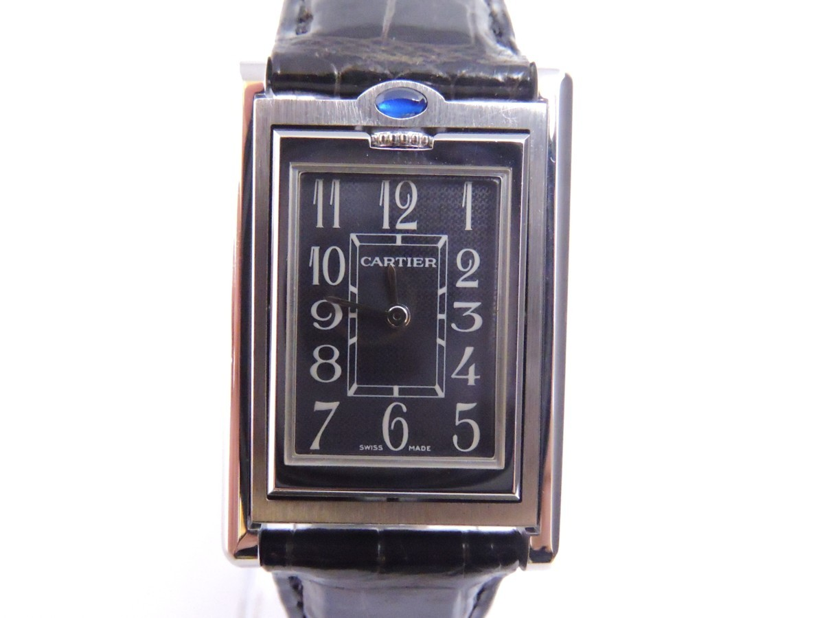 CARTIER カルティエ TANK BASCULANTE タンクバスキュラントMM Ref.2405 クオーツ 腕時計 カルティエにて電池交換オーバーホール済