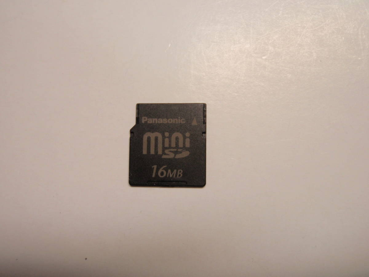 16MB mini SDメモリーカード Panasonic_画像1
