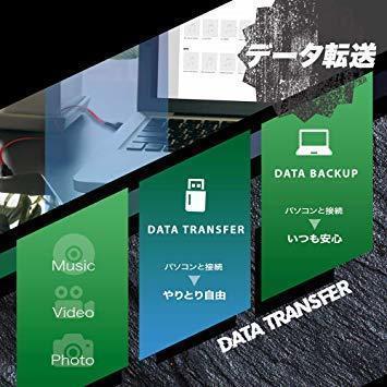 新品ブラック オウルテック 超タフ 巻取り microUSBケーブル Type-C (USB-C)変換付き QC3.1RPO_画像6