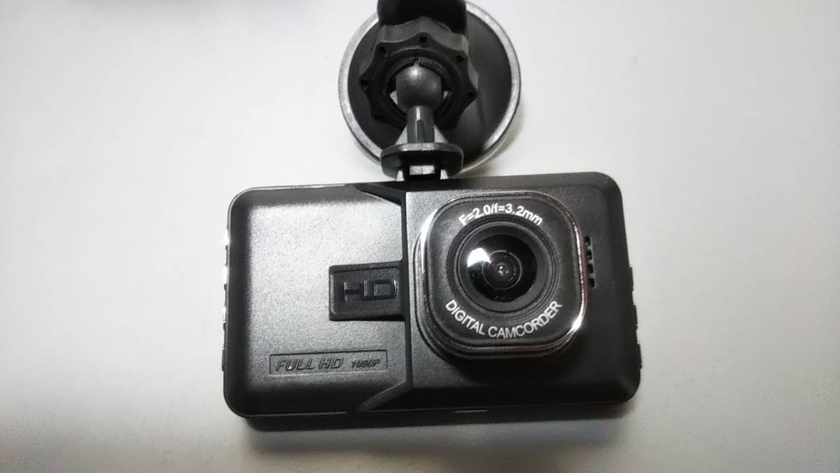 c2629◆前後カメラドライブレコーダー Vehicle BlackBOX DVR◆フルHD1080/日本語説明書付き/動作品_画像2