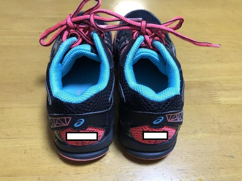 中古 アシックス 21.0cm 紐靴 運動靴 小学生 女の子_画像2