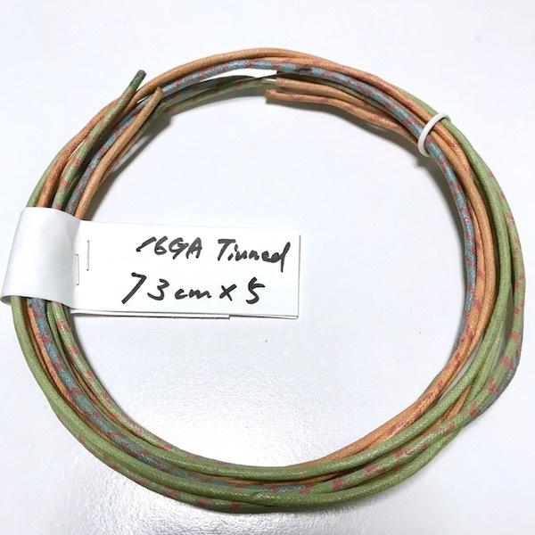 Western Electric 16GA 錫メッキ単線 73cm ×5本 中古線