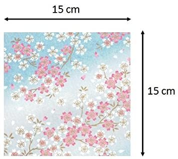 青色系 15cm 【.co.jp 限定】和紙かわ澄 特撰 青色系 手染め 千代紙 友禅和紙 15cm 8柄入_画像3