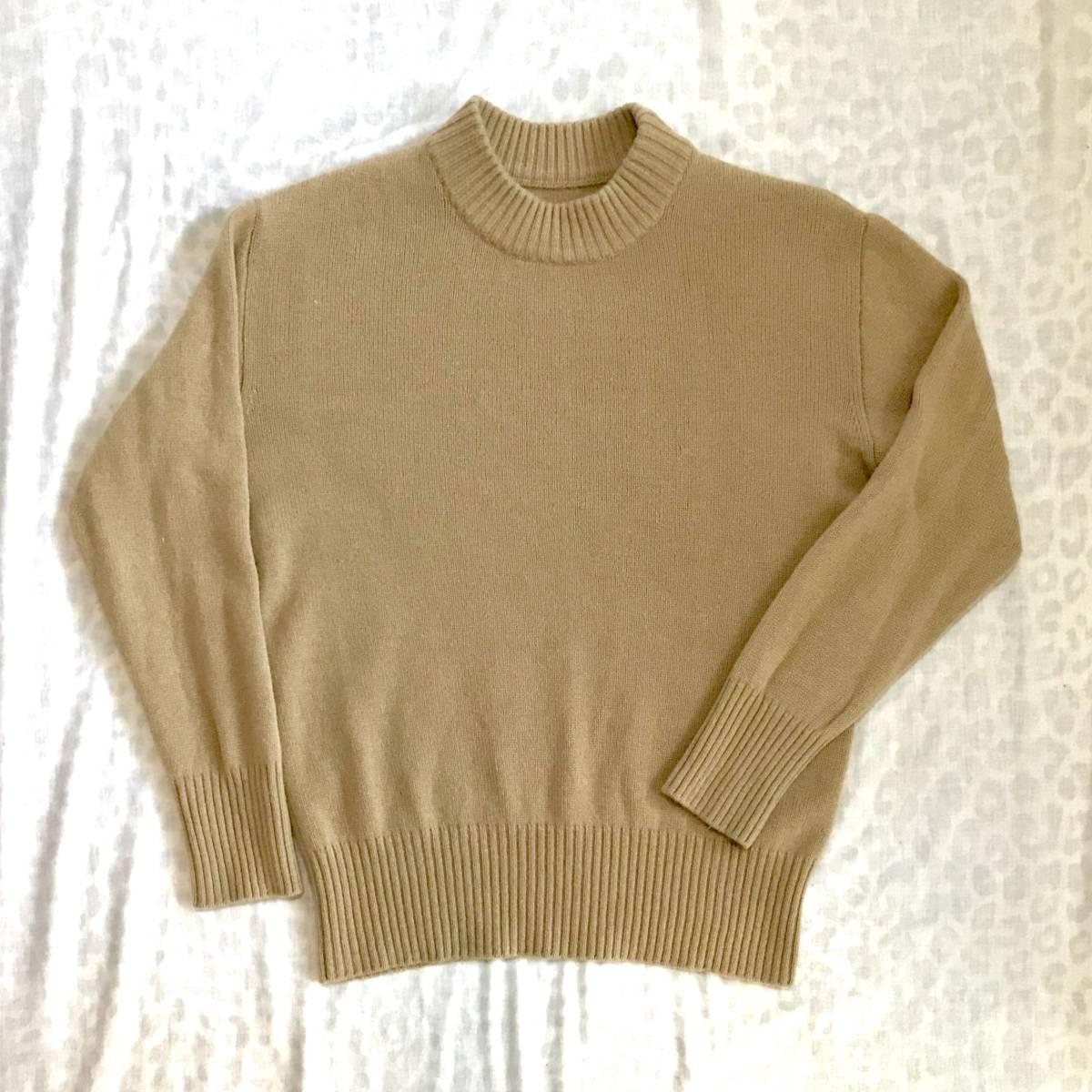 至高◎! フランス ヴィンテージ UNIONMADE ビキューナ セーター /もの凄く軽く柔らかな逸