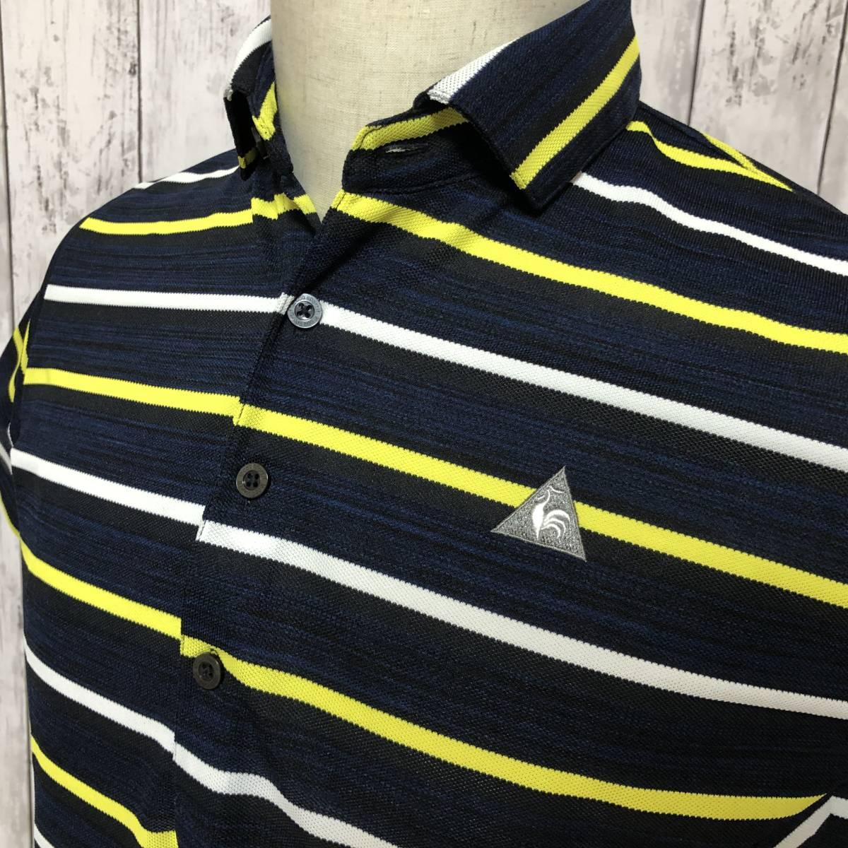 【le coq sportif golf】ルコック ゴルフ ゴルフウェア ポロシャツ 半袖 メンズ Mサイズ 送料無料!_画像5