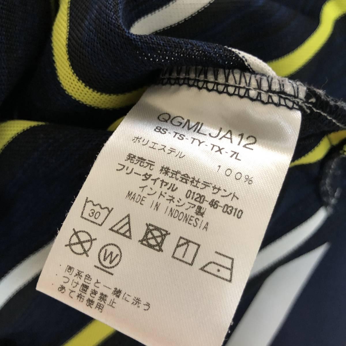 【le coq sportif golf】ルコック ゴルフ ゴルフウェア ポロシャツ 半袖 メンズ Mサイズ 送料無料!_画像8