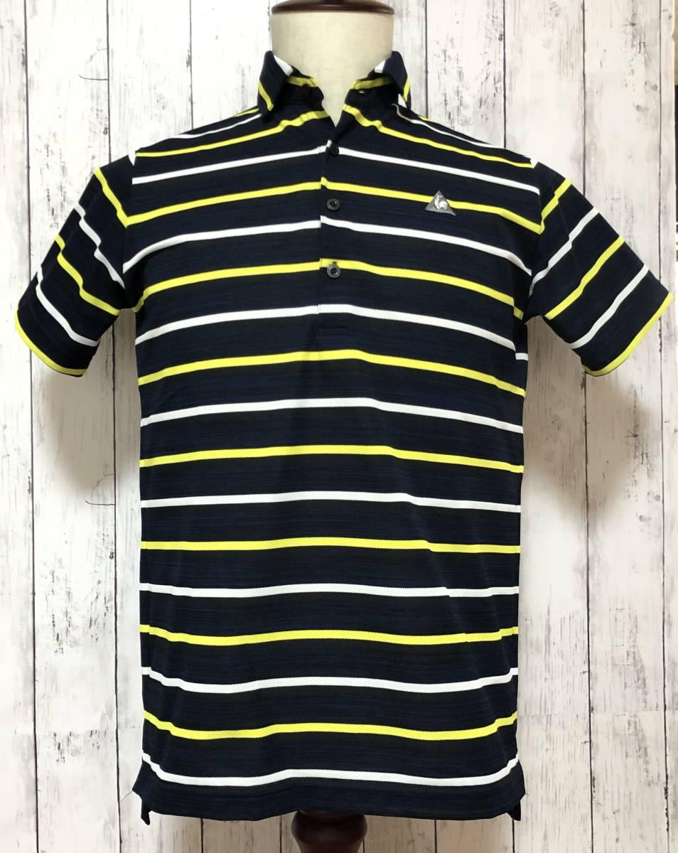 【le coq sportif golf】ルコック ゴルフ ゴルフウェア ポロシャツ 半袖 メンズ Mサイズ 送料無料!_画像1