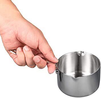 シルバー 450ml IMEEA ミルクパン 片手鍋 18-10ステンレス IH対応 450ml ソースパン ミニミルクパン_画像5