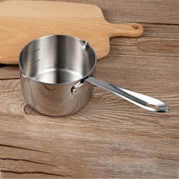 シルバー 450ml IMEEA ミルクパン 片手鍋 18-10ステンレス IH対応 450ml ソースパン ミニミルクパン_画像6