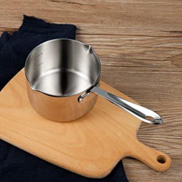 シルバー 450ml IMEEA ミルクパン 片手鍋 18-10ステンレス IH対応 450ml ソースパン ミニミルクパン_画像8